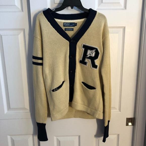 Vintage Polo Ralph Lauren Stadium P-Wing Cardigan.  M 5b0b37e68df470502b923f53 109a5494b